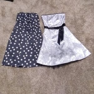 Lot of Two Strapless Dresses Size 4